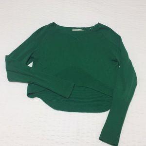 Anthropology Yoon Crop sweater in Kelley green